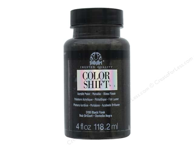 Plaid Folkart Color Shift Paint 4 oz. Black Flash