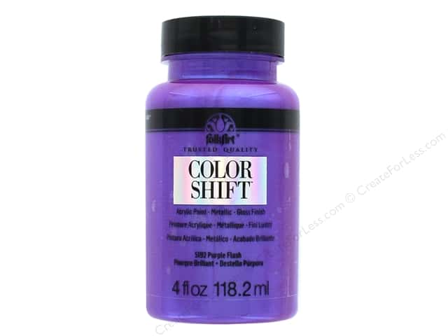 Plaid Folkart Color Shift Paint 4 oz. Purple Flash