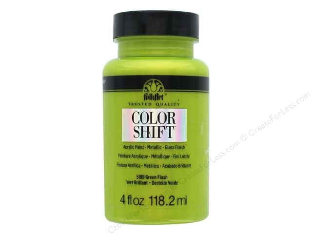 Plaid Folkart Color Shift Paint 4 oz. Green Flash