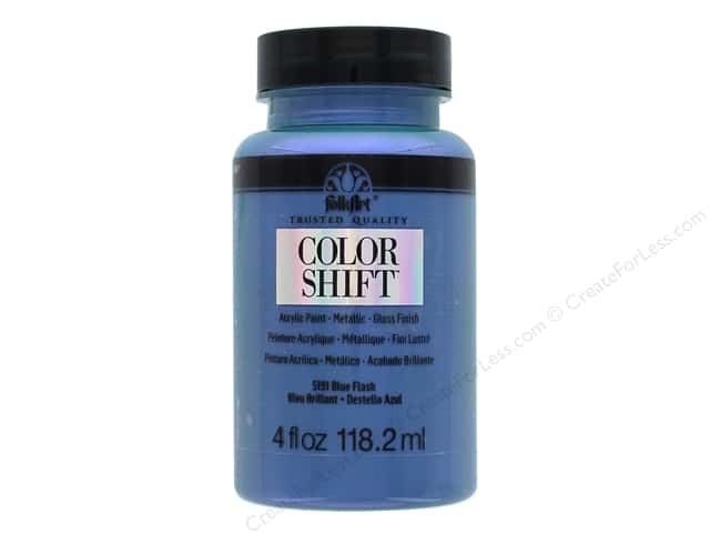 Plaid Folkart Color Shift Paint 4 oz. Blue Flash