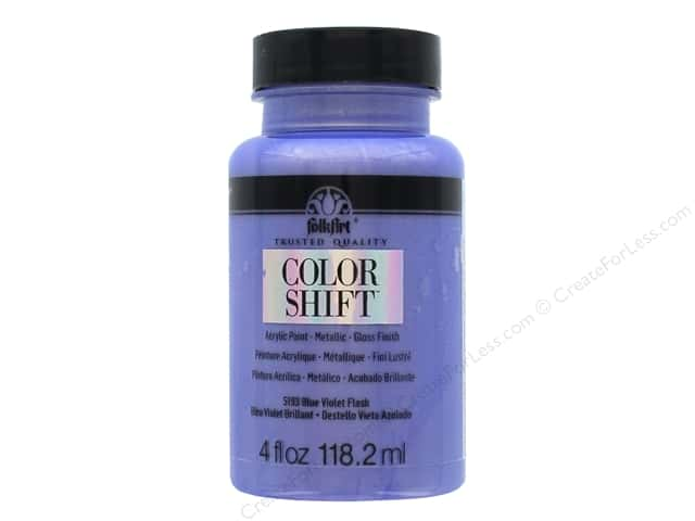 Plaid Folkart Color Shift Paint 4 oz. Blue Violet Flash