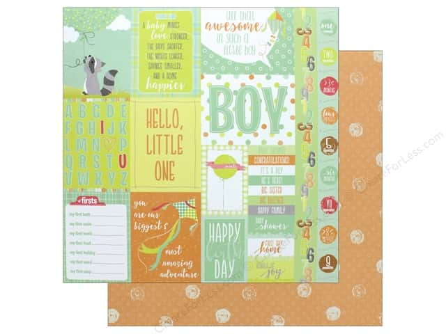 Photo Play Collection About A Little Boy Paper 12 in. x 12 in. Peek-A-Boo (25 pieces)