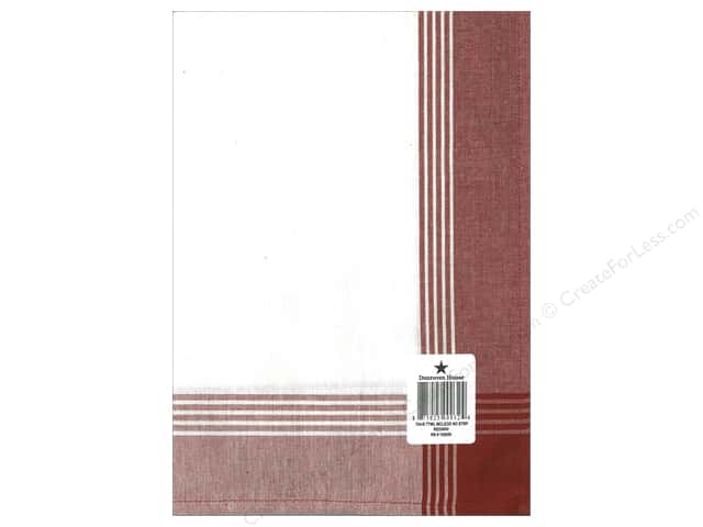 """Dunroven House Towel 20""""x 28"""" McLeod No Stripe Red (6 pieces)"""