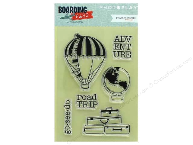 Photo Play Collection Boarding Pass Polymer Stamp