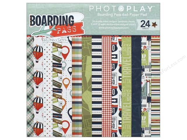 """Photo Play Collection Boarding Pass Paper Pad 6""""x 6"""""""