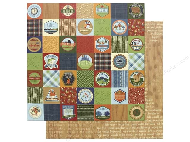 """Photo Play Collection Campfire Paper 12""""x 12"""" Badges (25 pieces)"""