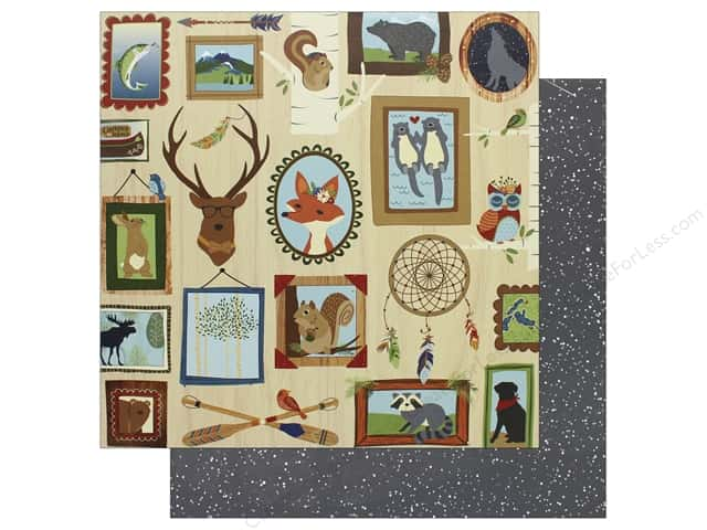 "Photo Play Collection Campfire Paper 12""x 12"" Lodge Wall (25 pieces)"