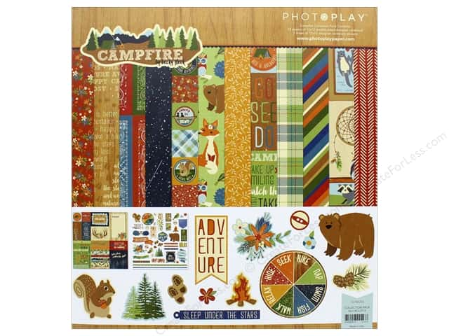 "Photo Play Collection Campfire Collection Pack 12""x 12"""