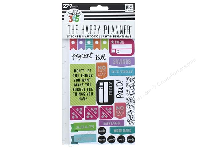 Me&My Big Ideas Create 365 Happy Planner Sticker Snap In Get Paid