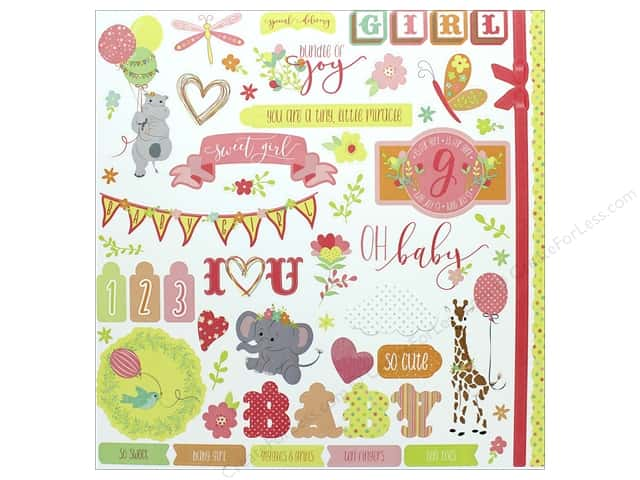 "Photo Play Collection About A Little Girl Sticker Element 12""x 12"" (12 pieces)"