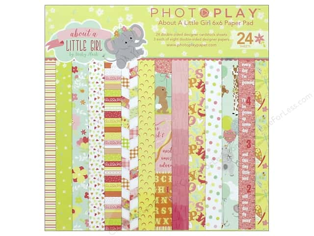 """Photo Play Collection About A Little Girl Paper Pad 6""""x 6"""""""