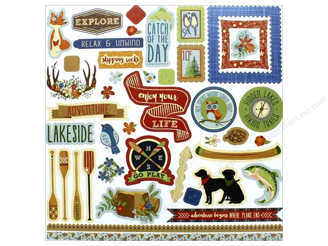 "Photo Play Collection Lakeside Sticker Element 12""x 12"" (12 pieces)"