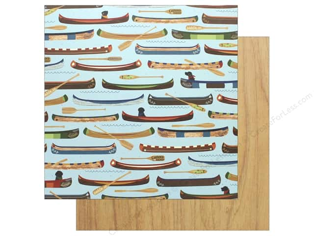 """Photo Play Collection Lakeside Paper 12""""x 12"""" Row Your Boat (25 pieces)"""