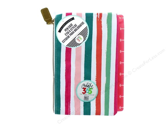 Me&My Big Ideas Collection Create 365 Happy Planner Pen Case Snap In Painted Stripe
