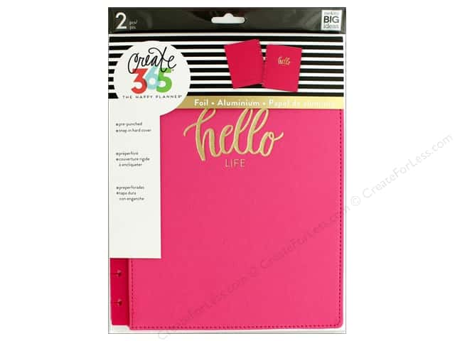 Me&My Big Ideas Create 365 Happy Planner Cover Snap In Classic Pink