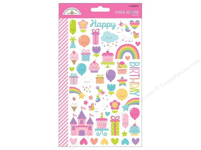 Doodlebug Collection Fairy Tales Sticker Mini Icons (12 sets)