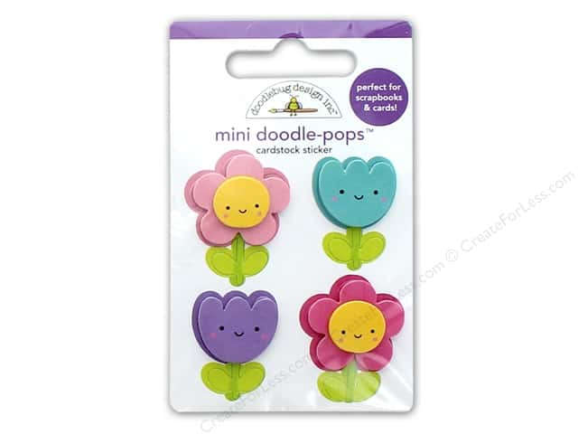 Doodlebug Collection Fairy Tales Doodle Pops Mini Flower Friends