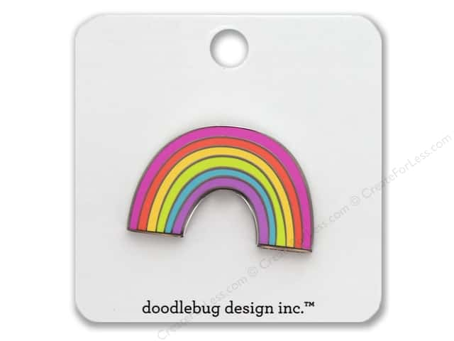 Doodlebug Collection Fairy Tales Enamel Pin Rainbow