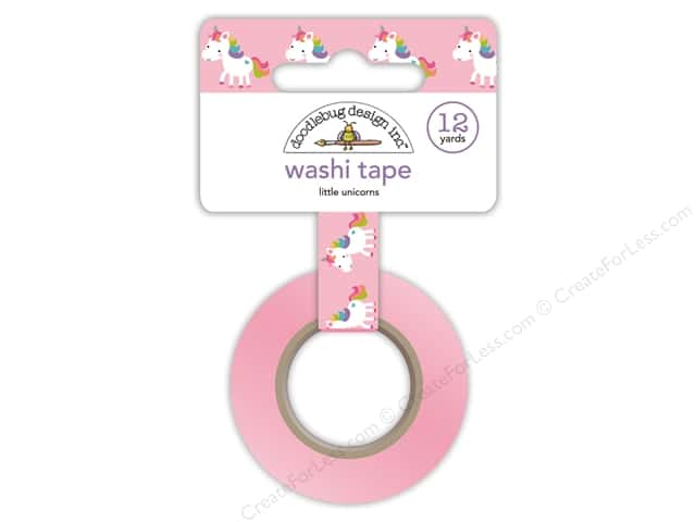 Doodlebug Collection Fairy Tales Washi Tape Little Unicorns
