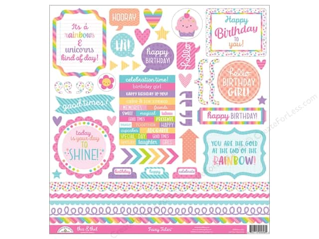 Doodlebug Collection Fairy Tales Sticker This & That (12 pieces)