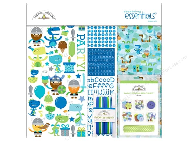 Doodlebug Collection Dragon Tails Essentials Kit