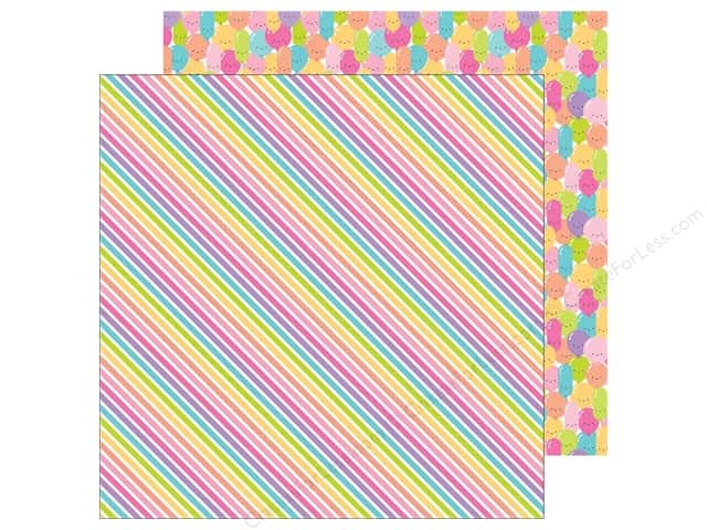 "Doodlebug Collection Fairy Tales Paper 12""x 12"" Rainbow Ribbons (25 pieces)"