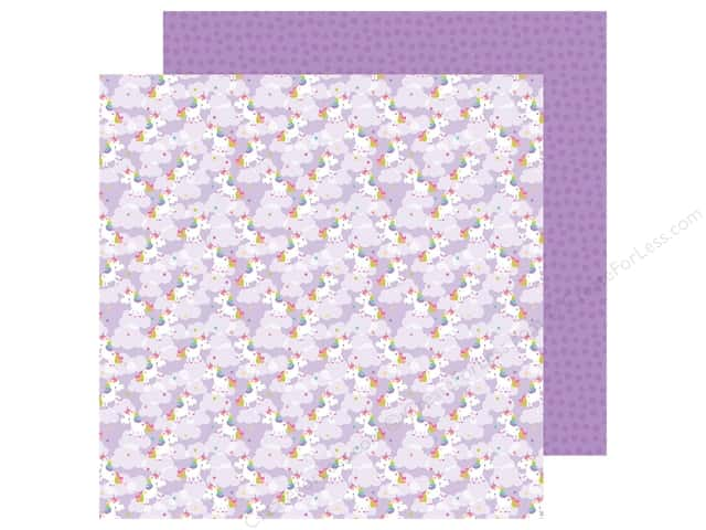 "Doodlebug Collection Fairy Tales Paper 12""x 12"" Magical Unicorns (25 pieces)"