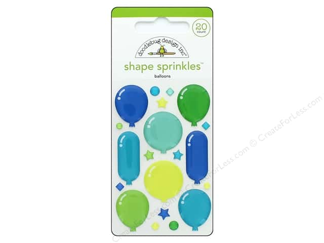 Doodlebug Collection Dragon Tails Sprinkles Shapes Balloons