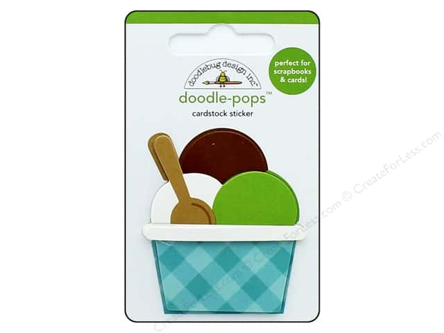 Doodlebug Collection Dragon Tails Doodle Pops Triple Scoop