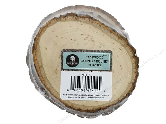 Walnut Hollow Basswood Country Round Coaster 3 pc.
