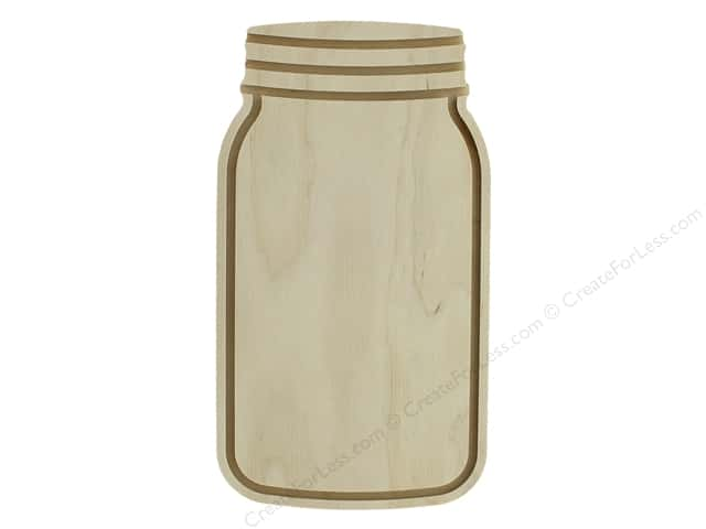 Walnut Hollow Wood Shape Birch Mason Jar 9""