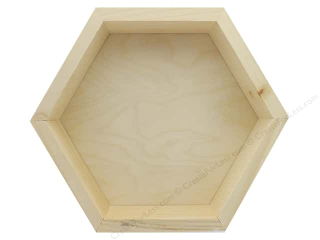 Walnut Hollow Wood Wall Decor Pine/Birch Hexagon Small