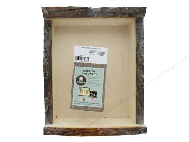 Walnut Hollow Bark Edge Shadow Box - Large