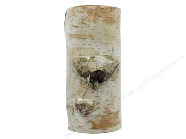 Walnut Hollow Wood Birch Bark Edge Pillar 7""