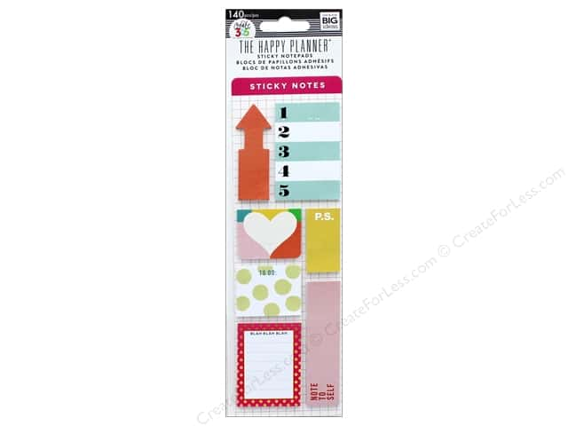 Me&My Big Ideas Create 365 Happy Planner Sticky Notes Brights