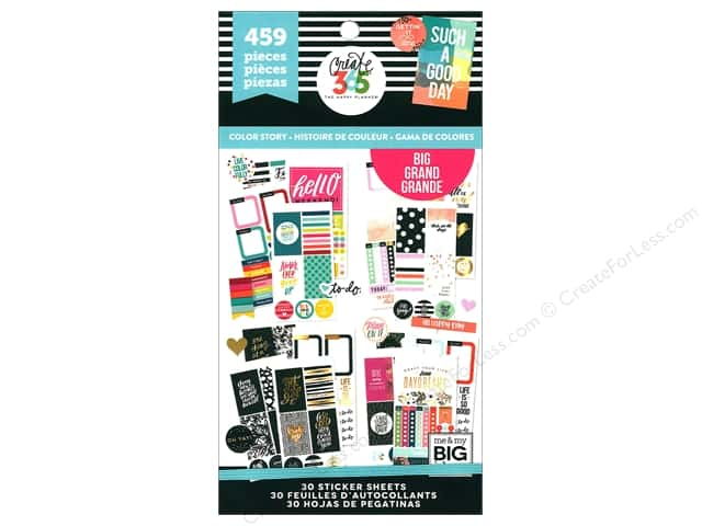 Me&My Big Ideas Create 365 Happy Planner Sticker Value Pack Big Color Story