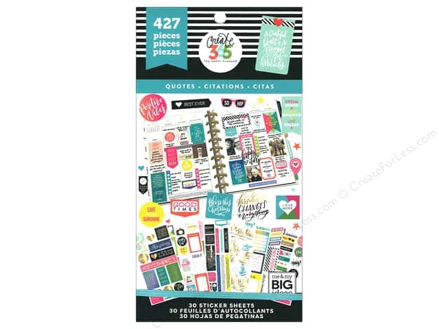 Me&My Big Ideas Collection Create 365 Happy Planner Sticker Value Pack Classic Quotes