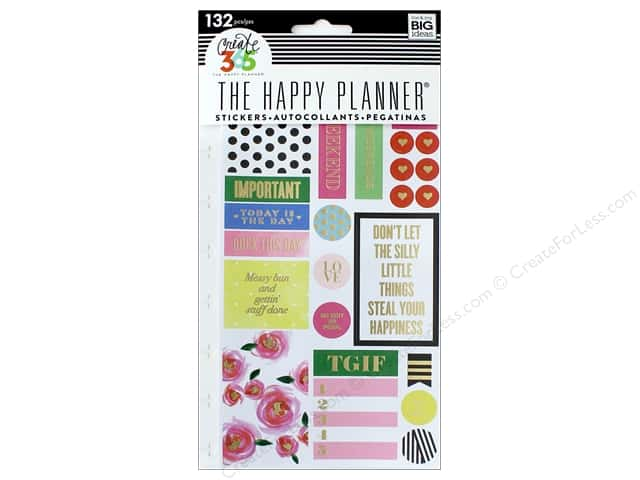 Me&My Big Ideas Create 365 Happy Planner Sticker Snap In Make It Happen