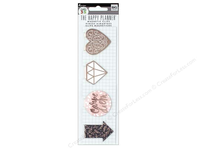 Me&My Big Ideas Create 365 Happy Planner Magnet Bookmarks Rose Gold