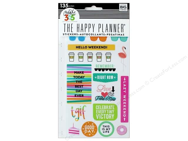 Me&My Big Ideas Collection Create 365 Happy Planner Sticker Snap In TGIF