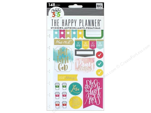 Me&My Big Ideas Collection Create 365 Happy Planner Sticker Snap In Faith Gratitude
