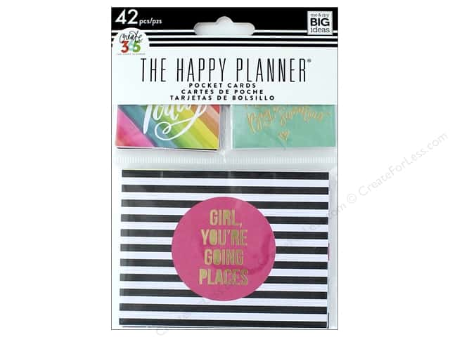 Me&My Big Ideas Create 365 Happy Planner Pocket Cards Mini