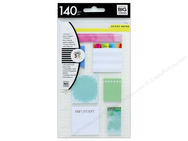 Me&My Big Ideas Create 365 Happy Planner Sticky Notes Snap In Mini