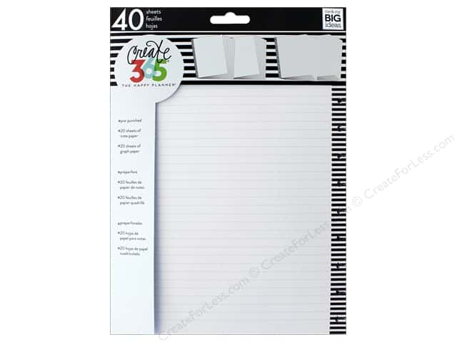 Me&My Big Ideas Create 365 Happy Planner Filler Paper Big