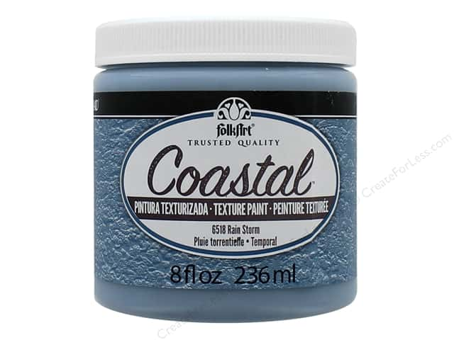 Plaid FolkArt Coastal Texture Paint 8 oz. Rain Storm