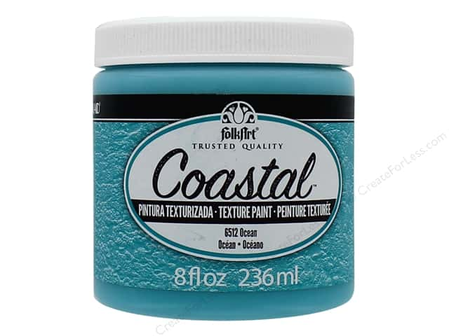 Plaid FolkArt Coastal Texture Paint 8 oz. Ocean