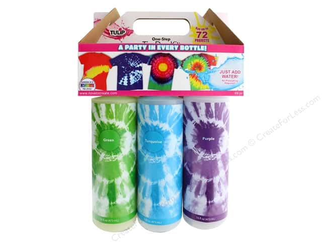 Tulip Dye Kit One Step Tie Dye 16 oz Party 6 Color