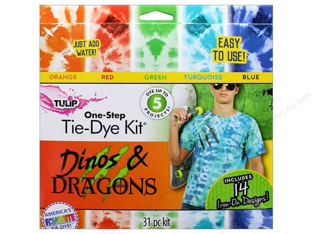 Tulip One Step Dye Kit 5 Color Mini Dino & Dragon