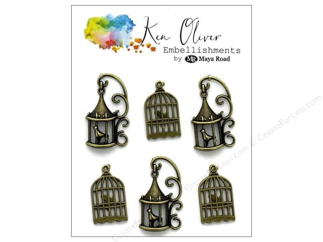 Maya Road Ken Oliver Charms Vintage Bird Cages