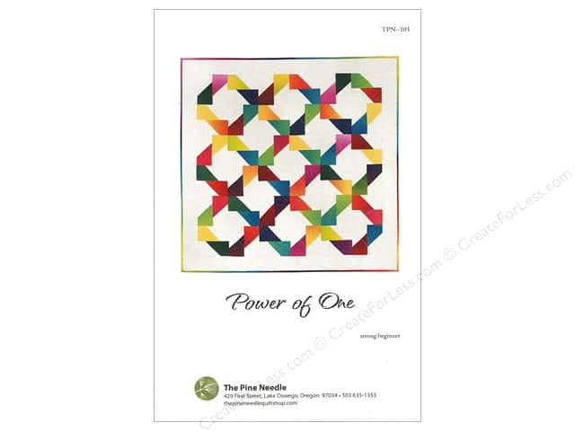 The Pine Needle Power Of One Quilt Pattern